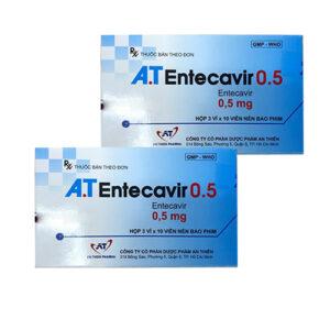 Thuốc A.T Entercavir 0,5mg điều trị viêm gan B