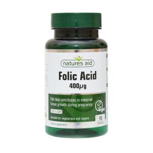 Thuốc Natures Aid Folic Acid 400
