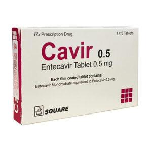 Thuốc Cavir – Entecavir 0,5mg điều trị viêm gan B