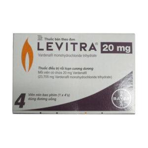 Thuốc Levitra – Vardenafil điều trị rối loạn cương dương