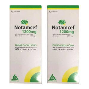 Thuốc Notamcef 1200mg (Dung dịch uống) – Giá bán, Mua ở đâu?