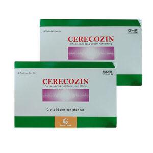 Thuốc Cerecozin - Citicolin 500mg (Hộp 30 viên) – Giá bán, Mua ở đâu?