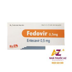 Thuốc Fedovir 0.5mg (Entercavir 0,5mg )