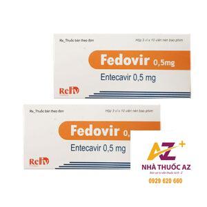 Thuốc Fedovir 0.5mg (Entercavir 0,5mg ) – Hộp 30 viên – Giá bán?