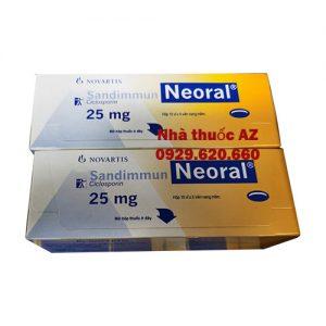 Thuốc Sandimmun Neoral 25mg giá bán như thế nào? mua thuốc ở đâu?