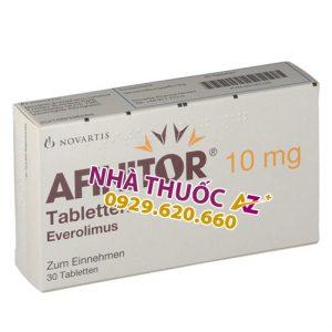 Thuốc Afinitor 10mg (Hộp 30v - Thụy Sĩ) - Giá bán – Mua ở đâu rẻ nhất?