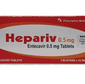 Thuốc Hepariv – Entecavir 0,5mg - Công dụng, Liều dùng, Mua ở đâu